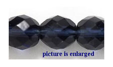 Multi Cut Montana Blue Faceted 10MM Round  Beads