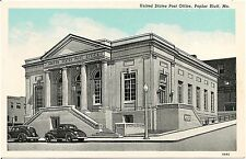 United States Post Office in Poplar Bluff MO Postcard