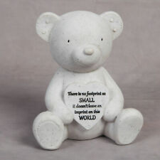 Memorial Graveside Teddy Bear and Heart Baby Child Grave Memorial Remembrance