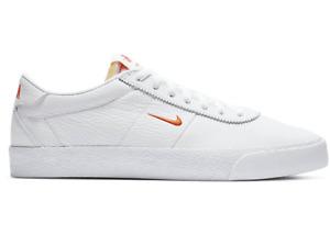 NIKE SB ZOOM BRUIN Trainers Leather - UK Size 8 (EUR 42.5) White Orange