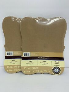 Recollections Kraft 65 lb Cardstock Paper RUSTIC Fancy Edges 36 Sheets X2 New