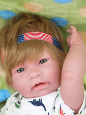 "Baby Boy American Blond Doll 17"" Berenguer Alive Newborn Reborn Soft Vinyl"