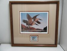 1987 N.H. Migratory Waterfowl Stamp w Print, Numbered, Signed, Mated & Framed