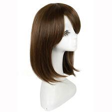 HE-J0002 fashion medium brown straight cosplay women's hair wig wigs for women