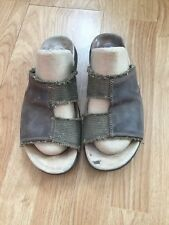 Timberland Springs Slide Dark Brown Leather Men's Sandals Size 9 M 52542