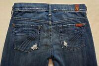 7 for All Mankind Dojo Womens Denim Blue Jeans Size 25 x 29 Wide Leg Med Wsh EUC