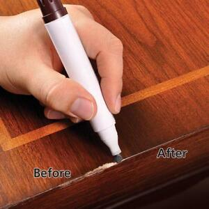 Touch Up Marker Pen For Wood Repair Furniture Light Medium And Dark Brown 3 Pens