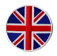 Ecusson patche patch drapeau thermocollant Grande Bretagne UK UNION JACK rond