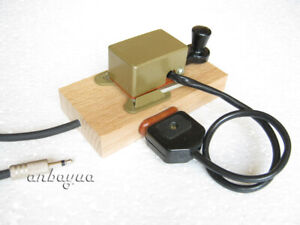 Wood Stand for Small Morse Telegraph Straight Key with Wire
