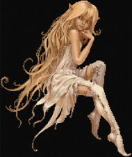 White Fairy Counted Cross Stitch Kit Fairy/Fantasy