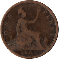1862 ONE PENNY OF QUEEN VICTORIA / VF GRADE     #WT523