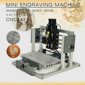 CNC Engraver 2417 USB Desktop DIY Mill Kit Router Mini Milling PCB Machine Metal