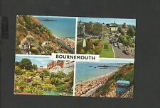 John Hinde Multi View  Colour Postcard Bournemouth-Zig Zag-The Lift-Posted 1979