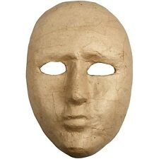 Handmade Paper Mache Full Face Mask