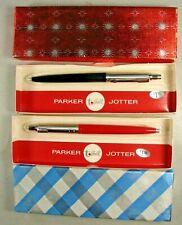 2 Vintage Parker T-Ball Jotter Pen Unused in Box Black Red