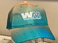 Waste Management WM BRIGHT Shiny Green Gold Trash Recycle Bar Pub Hat    NEW ~