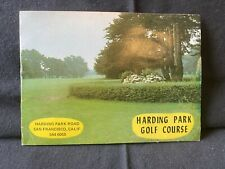 Vintage Used Harding Park Golf Course Scorecard (Site of 2020 Pga Championship)