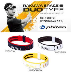 PHITEN JPN RAKUWA BRACELET S DUO type HIDEKI MATSUYAMA TITANIUM BALL golf 2021c