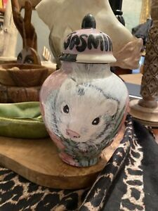 Custom SMALL Pet urn for ferrets cremation urns handmade Small pets hand painted