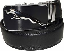 Jaguar Men's Auto Lock belt (XL) Leather Belt Dress Belt,Men's strong belt #7866