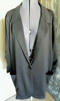 Women's American Rag cie Black One Button Front Blazer Jacket Size 2XL