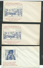 WWII CACHET COVERS, UNUSED, three (2 dif), LIBERTY BELL & SWANZEY OLD HOMESTEAD