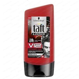 TAFT – Schwarzkopf V12 Styling Hair gel Shine 150ml, Speed hold, Fast drying