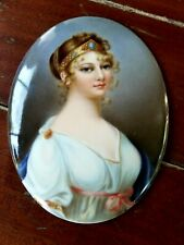 """DRESDEN  KPM  Louise from Prussian OVAL PLAQUE  3 3/4"""" x 2 3/4"""""""