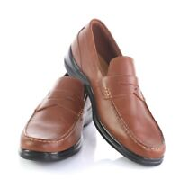 Cole Haan Grand OS Brown Leather Stitched Penny Loafers Shoes Mens 13 M EUC