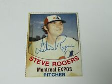 Steve Rogers Autographed Baseball Card Montreal Expos