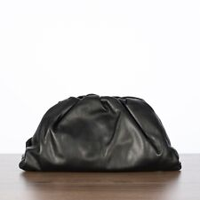 BOTTEGA VENETA 2700$ The Pouch Large Clutch Bag In Black Butter Calf Leather