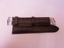 Cinturino Hirsch Pelle Calf stampa Coccodrillo,Resist. all'acqua,Anse 22 e 24 mm