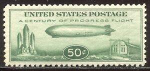 U.S. #C18 Mint NH BEAUTY - 1933 50c Zeppelin ($75)