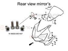 Honda CBR600F4I Sport 2001-2003 4x Stainless mirror bolts part No:96600-0601407