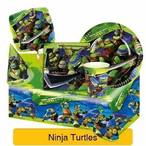 🐢 Teenage Mutant NINJA TURTLES Birthday Party Range  Tableware & Decorations 🐢
