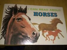 Vintage 1973 I Can Read About Horses Books By Richard Harris / Troll Associates