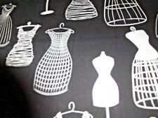"Michael Miller Fabric, ""Dress Form""  BTY $8.50  Black & White"