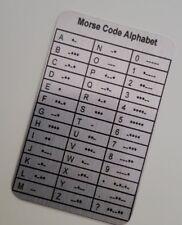 Morse Code Alphabet Metal Wallet Insert Morse Code Dots Dashes Dits Dahs SOS