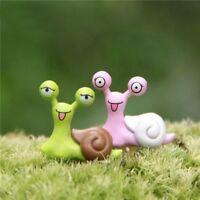 2pcs/pack Cute Mini Snails Micro Potted Landscape Ornaments Figurine Decoration