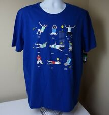 Nike Rafa Nadal Wins French Open 9 T Shirt XL Blue Multi Gym Casual Tennis New