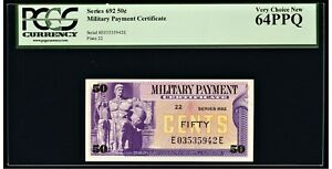 Series 692 Military Payment Certificate MPC 50¢ PCGS Very Choice New 64PPQ