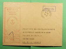 DR WHO 1971 FRANCE PORTE AVIONS CLEMENCEAU OFFICIAL FREE FRANK NAVY SHIP f52968