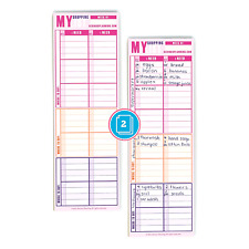 2 Pack Shopping Pad List Organizer Grocery Pad - Hand Size - 50 Sheets Each Pad