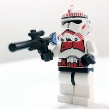 Lego Red Clone Shock Trooper Blaster Star Wars Minifig 7655