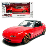 Jada 1:32 JDM Tuners Die-Cast 1990 Mazda Miata Car Red Model Collection