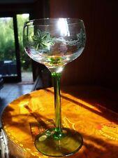 THERESIENTHAL Jugendstil Weinglas gemarkt Form Hans Christiansen Glas ähnlich?