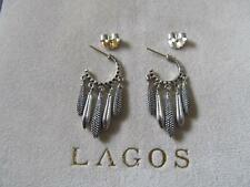 Lagos Caviar Kahina Beaded and Fluted Pampel Sterling Silver Earrings