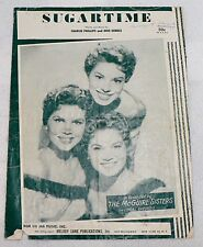 SHEET MUSIC SUGARTIME DATED 1956