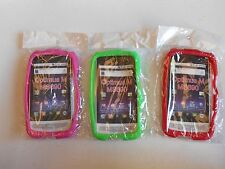 (LOT OF 3) NEW Silicone SOFT Case  GREEN RED and HOT PINK for LG Optimus M MS690