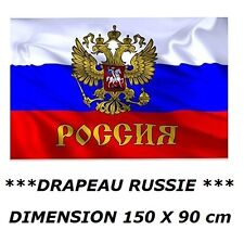 DRAPEAU 150 X 90 cm RUSSIE RUSSE AIGLE IMPERIAL RUSSIA flag fahne no fanion ...